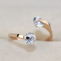 Fashion 18K Rose Gold Rhinestone Women Ring