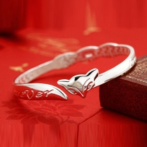 Retro Ethnic Style Silver-tone Fox-shaped Bracelet