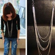 Retro Style Multilayer Tassel Long Necklace