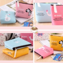 Cute Animal Pattern Candy Color Coin Purse