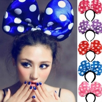 Cute Dots Mickey Bowknot LED Glowing Headband