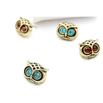 Retro Owl Shaped Stud Earrings