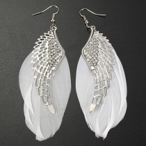 Fashion Angel Wings Feather Earrings