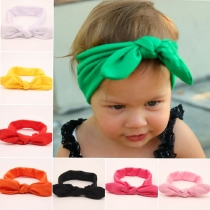 Cute Rabbit Ears-Shaped Solid Color Kids Headband