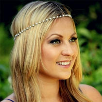 Sweet Style Hand-beaded Pearls Headband