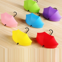 Cute Umbrella-shaped Wall Hook Storage Rack 3pcs/Set