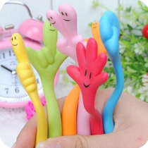 Cute Cartoon Bendable Gesture Ballpoint Pen(Color in random)