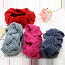 Fashion Solid Color Dough Twist Shaped Knit Headband