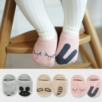 Cute Cartoon Pattern Asymmetric Anti-slip Kids Socks