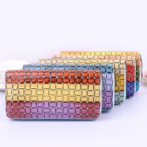Fashion Colorful Plaid Long Wallet