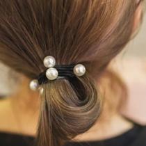 Retro Style Elastic Pearl Head Rope