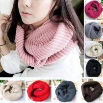 Fashion Solid Color Knit Infinity Scarf