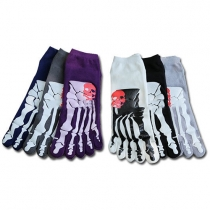 Creative Style Skull Pattern Men's Toe Socks