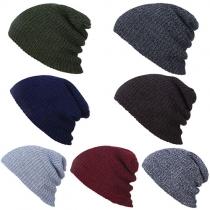 Fashion Solid Color Unisex Knit Cap Beanies