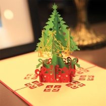 Cute 3D Christmas Tree Christmas Greeting Cards