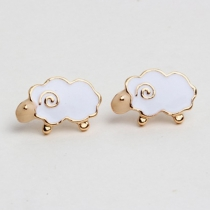 Cute Little Sheep Shaped Stud Earrings