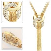 Fashion Gold-tone Tassel Necklace