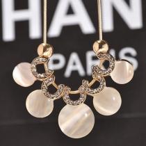 Fashion Rhinestone Opal Pendant Necklace