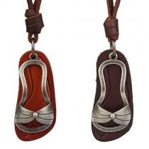 Retro Style Slipper Pendant Necklace