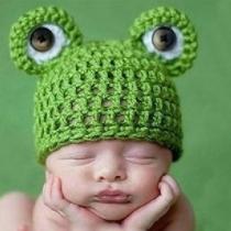 Cute Frog Shaped Baby Knit Cap Beanies