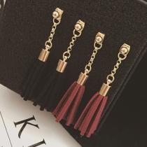 Retro Style Faux Suede Tassel Earrings