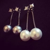 Fashion Pearl Pendant Earrings