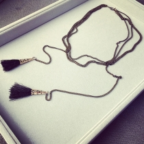Fashion Multi-layer Tassel All-match Necklace
