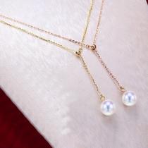 Fashion Pearl Pendant Necklace