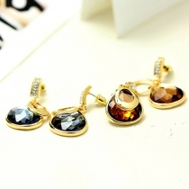 OL Style Rhinestone Crystal Pendant Earrings