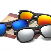 Retro Shark Camouflage Square Frames Sunglasses