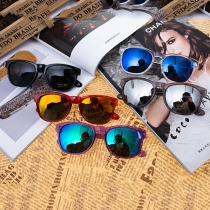 Fashion Thick Frame UV Sunglasses