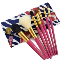 Fashion 7pcs Makeup Comestic Brush Set with Pouch