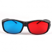 Universal Red Blue 3D Glasses For Dimensional Anaglyph Movie Game DVD