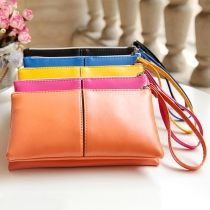 Fashion Style Candy Color Multi-Function Clutch Purse