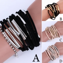 Fashion Style Multi-Layer Hand Woven Bracelet