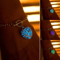Fashion Style Luminous Heart-Shaped Pendant Bracelet