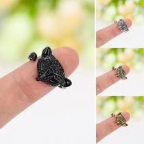 Stylish Cute Fox Couple Adjustable Open Ring