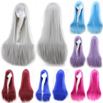 Fashion Colorful Cosplay Long Tilted Frisette Hair Wig