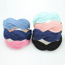 Fashion Solid Color Wave S-Shaped Knit Headband