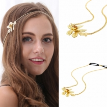 Fashion Gold-tone Flowers Shaped Headwear
