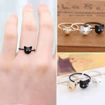 Lovely Delicate Cat Shaped Rhinestone Ring