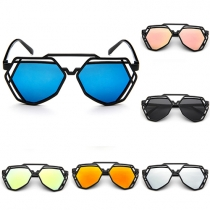 Fashion All-match Polygon Frame Hollow Out Sunglasses