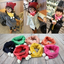 Fashion Candy Color Splode Warm Scarf For Children