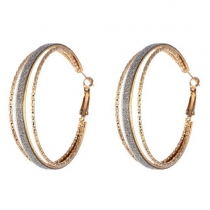 Fashion Rhinestone Round Circle Shaped Earring