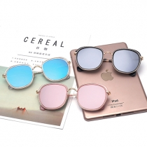 Fashion Metal Round Frame Anti-UV Unisex Sunglasses