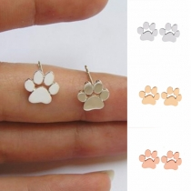 Cute Style Puppy Footprint Alloy Stud Earrings