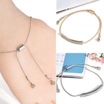 Fashion Simple Imitation Diamond Adjustable Bracelet