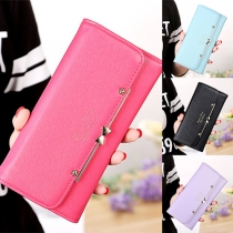 Fashion Bowknot Large-capacity Long Wallet