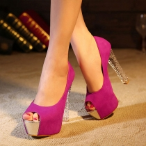 Sexy Super High-heeled Peep Toe Platform Sandals