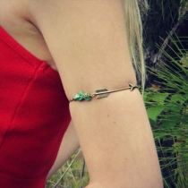 Retro Style Cupid-Arrow Turquoise Pendant Arm Chain